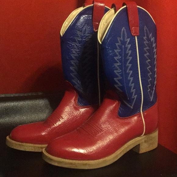 Vintage Patent Red White Blue Cowboy